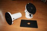 zkompletovaný RA a DE blok, upínací deska dalekohledu