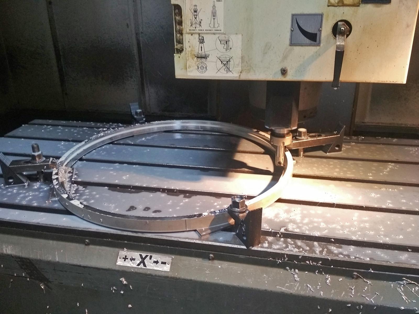 výroba kroužku rotačního spojení tubusu s předním prstence