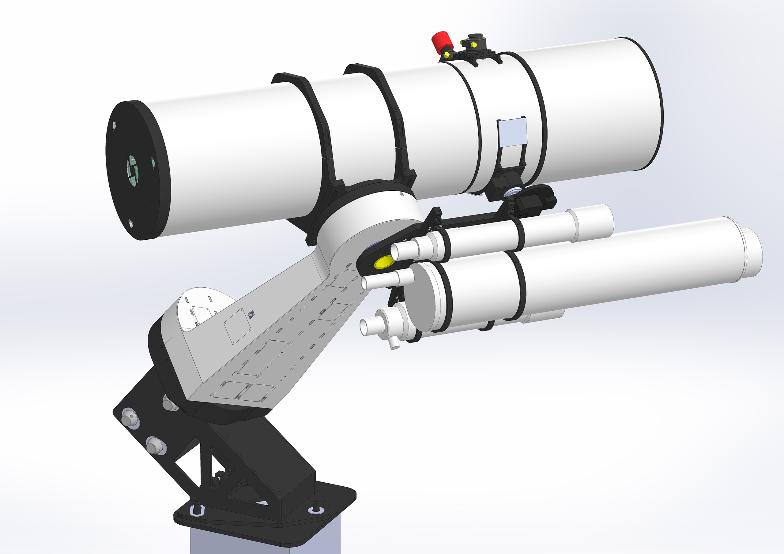 3D model s dalekohledy