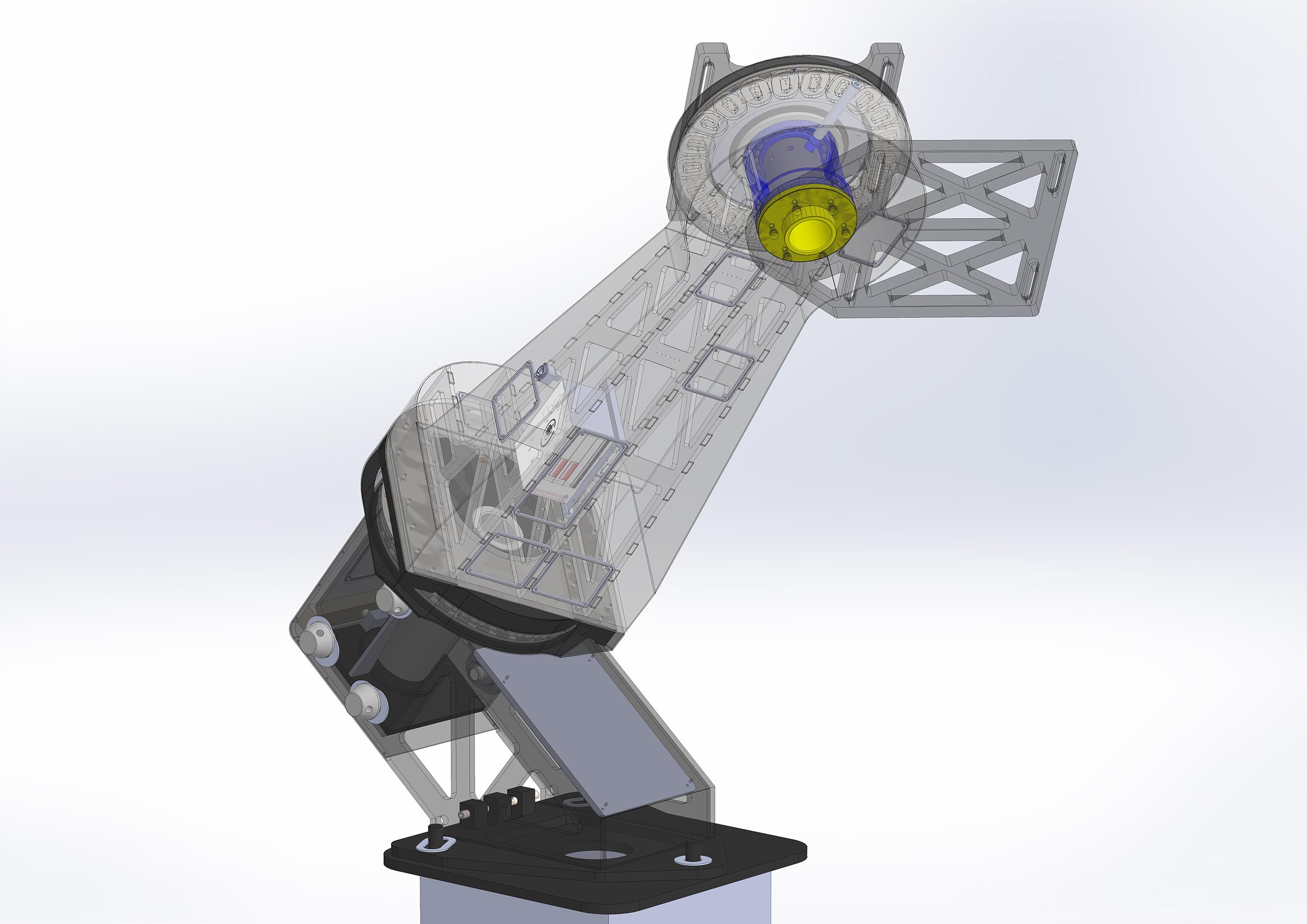 průhedný 3D model
